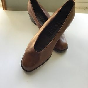 Amalfi Vintage Leather Pumps Size 4
